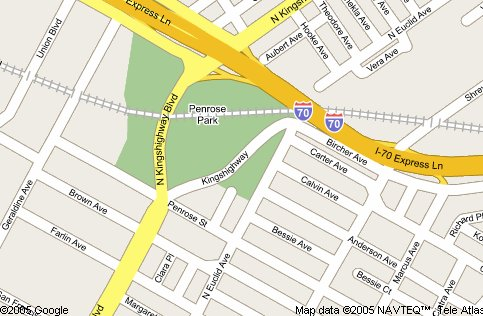 Map of Penrose Park